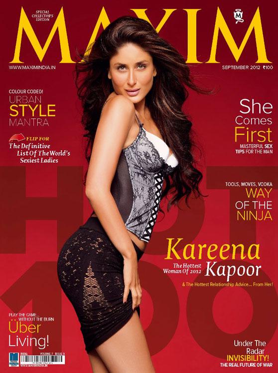 Kareena Kapoor graces Maxim Magazine Cover September 2012 issue