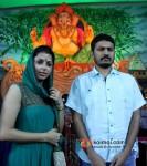Bhumika Chawla And E.Niwas Perform First Day Ganpati Aarti