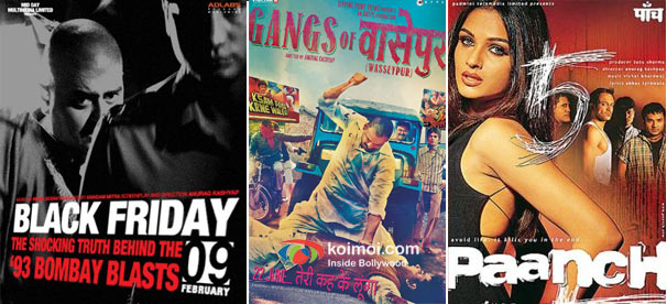 Black Friday, Gangs of Wasseypur and Paanch Movie Posters