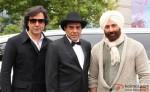 Bobby Deol, Dharmendra and Sunny Deol on the sets of Yamla Pagla Deewana 2 Movie Production Stills