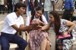 Dhanush and Sonam Kapoor on the sets of Raanjhnaa Movie Stills