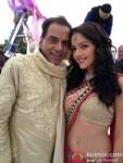 Dharmendra and Kristina Akheeva on the sets of Yamla Pagla Deewana 2 Movie Production Stills