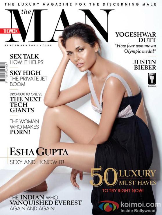 Esha Gupta On The Man Magazine Cover September 2012 Issue