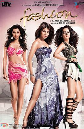 Mugdha Godse, Priyanka Chopra and Kangana Ranaut in Fashion Movie Poster