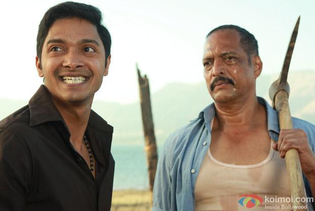 Shreyas Talpade and Nana Patekar (Kamaal Dhamaal Malamaal Movie Stills)