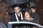 Karan Johar And Hiroo Johar At Yash Chopra's Birthday Bash