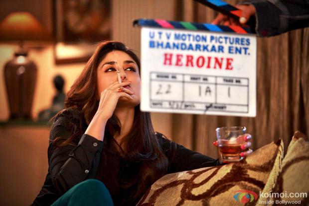 Kareena Kapoor on the sets of Heroine Movie