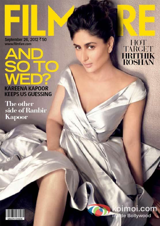 Kareena Kapoor on the Cover Page of Filmfare Magazine