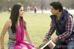 Katrina Kaif and Shah Rukh Khan in garden in Jab Tak Hai Jaan Movie Stills