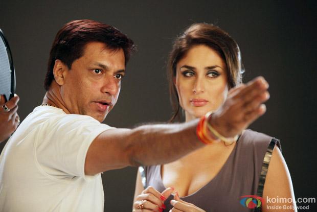 Madhur Bhandarkar and Kareena Kapoor on the sets of Heroine