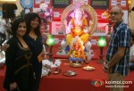 Madhushri, Hemasar Desai, Ujjwal Thengdi At Growell's Mall Ganesha In Kandivali