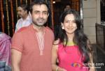 Mayank Anand and Shraddha Nigam At Jeetendra Kapoor's Ganpati Visrajan