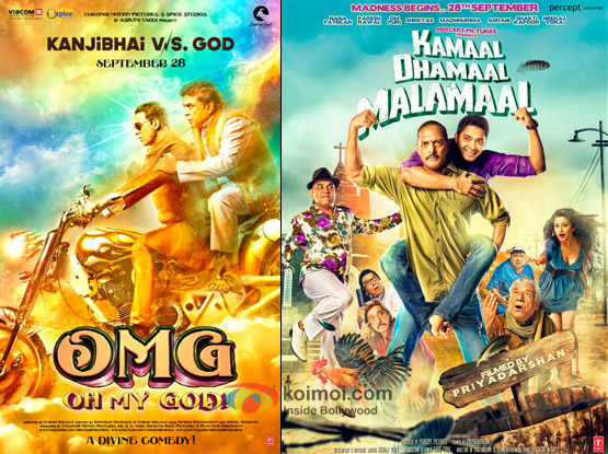 OMG Oh My God! and Kamaal Dhamaal Malamaal Movie Posters