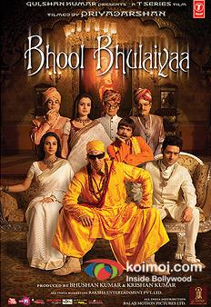 Paresh Rawal, Amisha Patel, Rajpal Yadav, Vidya Balan, Shiney Ahuja, Akshay Kumar In Bhool Bhulaiya Movie Poster