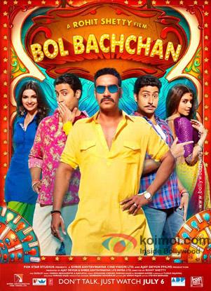 Ajay Devgan, Asin, Abhishek Bachchan and Prachi Desai starrer Bol Bachchan Movie Poster