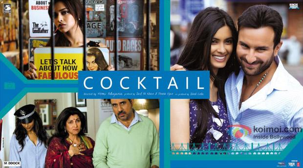 Saif Ali Khan, Deepika Padukone and Diana Peny starrer Cocktail Movie Poster