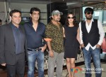 Prem Raj, Kishan Kumar, Sajid Ali, Preity Zinta, Wajid Ali, At Ishkq In Paris Music Launch