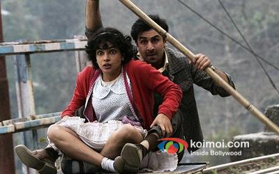 Priyanka Chopra And Ranbir Kapoor in Barfi! Movie Stills