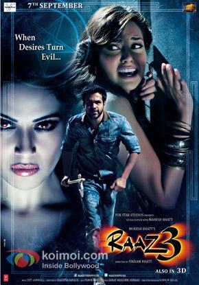 Bipasha Basu, Emraan Hashmi and Esha Gupta (Raaz 3 Movie Poster)
