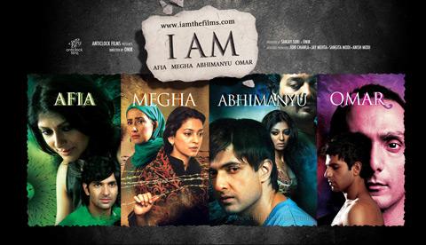 Rahul Bose, Juhi Chawla, Nandita Das, Purab Kohli, Anurag Basu, Manisha Koirala, Anurag Kashyaap in I Am Movie Poster