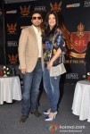 Raj Kundra And Shilpa Shetty At SFL (Super Fight League) Press Meet