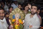 Raj Kundra At Shilpa Shetty's Ganpati Visarjan