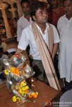 Rajpal Yadav Visits Andheri Ka Raja Ganesha Pic 1