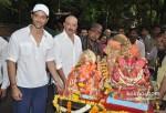 Rakesh Roshan At Hrithik Roshan's Ganpati Visarjan
