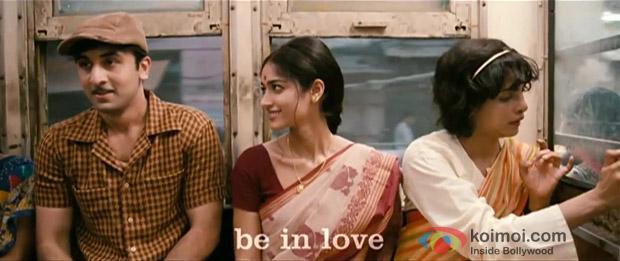 Ranbir Kapoor, Ileana D'Cruz and Priyanka Chopra in a Still from Barfi! Movie