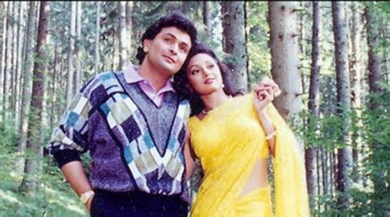 Rishi Kapoor and Sridevi In Chandni Movie Stills
