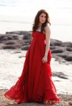 Sagarika Ghatge looks stunning in this red gown in Rush Movie Stills