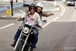 Shah Rukh Khan and Anushka Sharma Riding On A Bike in Jab Tak Hai Jaan Movie Stills