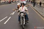 Shah Rukh Khan and Anushka Sharma riding a bike in Jab Tak Hai Jaan Movie Stills