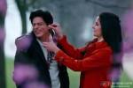 Shah Rukh Khan and Katrina Kaif having fun in Jab Tak Hai Jaan Movie Stills