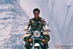 Shah Rukh Khan riding a bike in Jab Tak Hai Jaan Movie Stills