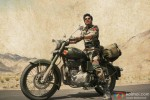 Shah Rukh Khan riding his bike in Ladakh in Jab Tak Hai Jaan Movie Stills