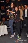 Shilpa Shetty Mary Kom and Raj Kundra At SFL (Super Fight League) Press Meet