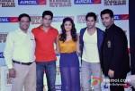 Sidharth Malhotra, Alia Bhatt, Varun Dhawan and Karan Johar At Aircel Presents Buddy Of The Year Trophy