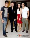 Sidharth Malhotra, Karan Johar, Alia Bhatt and Varun Dhawan Student Of The Year Movie Music Launch At Radio City 91.1 FM