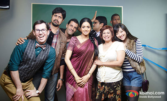Sridevi with cast in English Vinglish Movie Stills