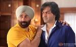 Sunny Deol Banding With Bobby Deol on the sets of Yamla Pagla Deewana 2 Movie Production Stills