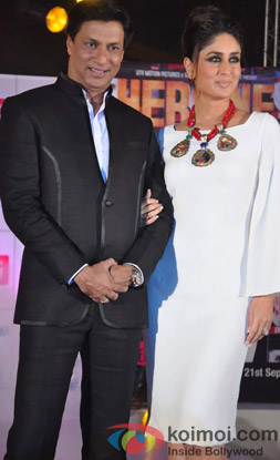 Madhur Bhandarkar and Kareena Kapoor at an event