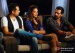 Abhay Deol, Esha Gupta, Arjun Rampal At Mehboob Studio For Chakravyuh Music Interviews