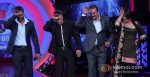 Ajay Devgan, Sanjay Dutt And Sonakshi Sinha Promoting Son Of Sardaar Movie On The Sets Of Bigg Boss Season 6 With Salman Khan