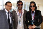 Ajay Devgn And Sonakshi Sinha Promoting Son Of Sardaar Movie At Formula One Indian Grand Prix