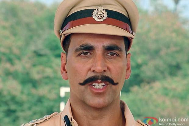Akshay Kumar as a Cop in a Still from Rowdy Rathore Movie