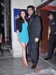 Alia Bhatt And Karan Johar Attends Student Of The Year Movie Special Screening At PVR Cinemas