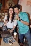 Alia Bhatt and Sidharth Malhotra Promoting Student Of The Year Movie At Starbucks Coffee Shop