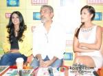 Anjali Patil, Prakash Jha And Esha Gupta Promoting Chakravyuh Movie At Indian Express Office