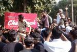 Arjun Rampal, Abhay Deol, Prakash Jha And Esha Gupta Promoting Chakravyuh Movie At Delhi Hindu College PIc 1